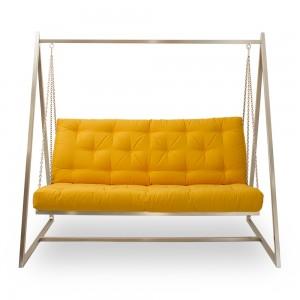 Schaukelsofa | Hängeschaukel | Hängesofa | Baumwollbezug, fester Sitzkomfort