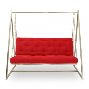 Schaukelsofa | Hängeschaukel | Hängesofa | Webstoffbezug, fester Sitzkomfort