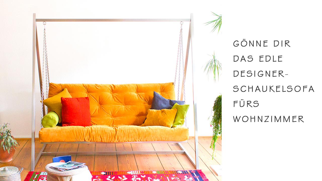 Gönne dir das edle Designer-Schaukelsofa fürs Wohnzimmer - Hier bestellen | Schaukelsofa | Hängesofa | Hängeschaukel | Schaukelliege