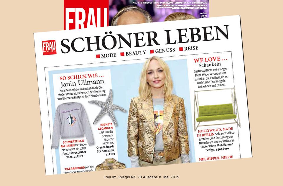 Pressebericht Frau im Spiegel - Schaukelsofa-Haengesofa-Haengeschaukel