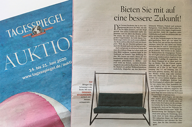 Pressebericht Tagesspiegel - Schaukelsofa-Haengesofa-Haengeschaukel